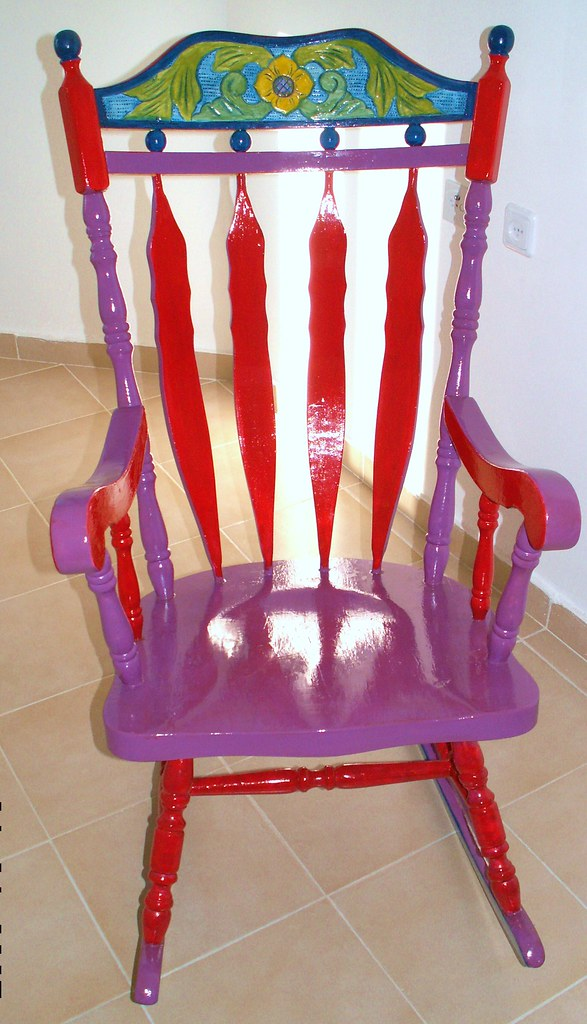 Refinished Furniture My Funky Rocking Chair Esther