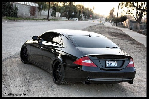 New Infiniti G35 Coupe >> Mercedes CLS Back | Micheals blacked out Mercedes CLS 500 ...