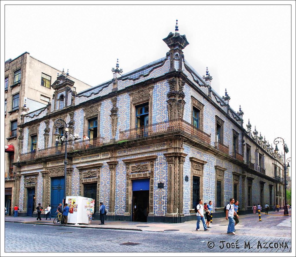 M xico df casa de los azulejos desde la calle cinco de m for Casa de los azulejos historia