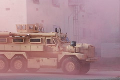 Soldiers from the Gate City-based 1032nd Transportation Co