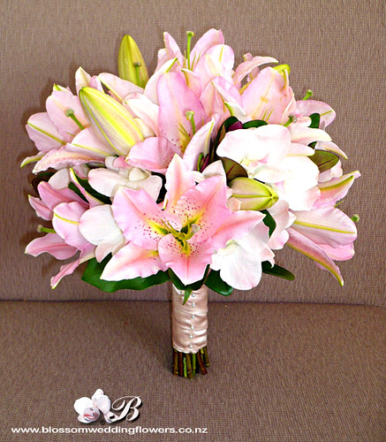 Pink Lily Orchid Bridal Bouquet Bridal Bouquet Of Pale