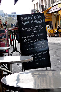 salad bar menu | by David Lebovitz