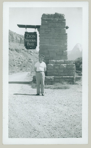 Man at Zion National Park