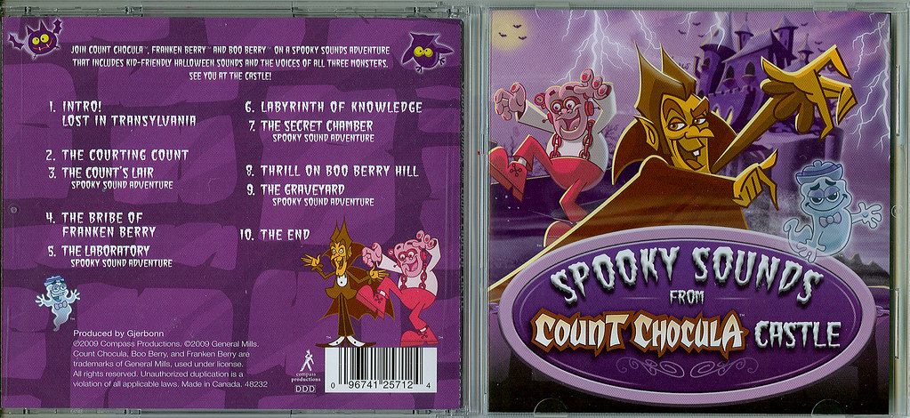 compass spooky sounds from count choculas castle cd produced by gerbonn compass