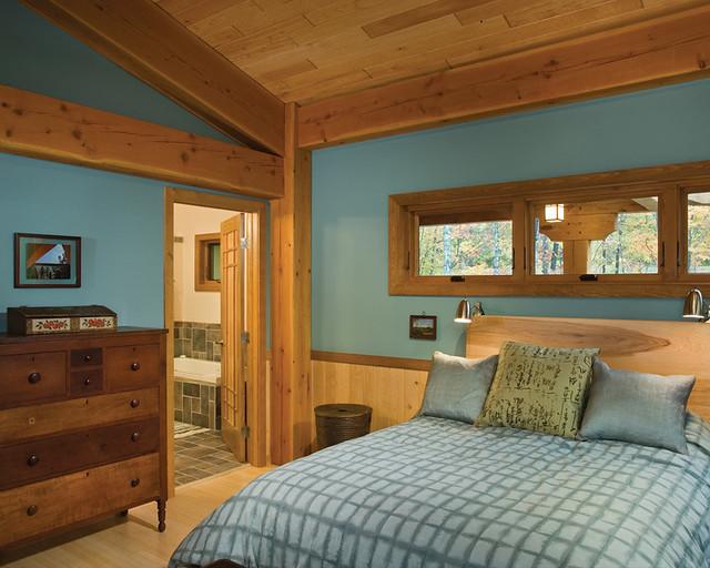 Modern Timber Living Timber Frame Home Master Bedroom Flickr