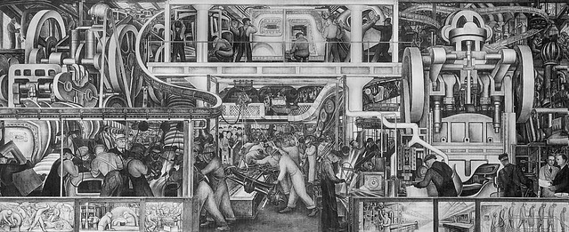 1932 mural detroit industry by diego rivera for Diego rivera mural chicago