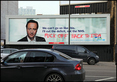 David Cameron - Fuck Off Back to Eton | by artofthestate