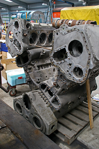 Deltic Engine Block  With Cylinder Liner On Top