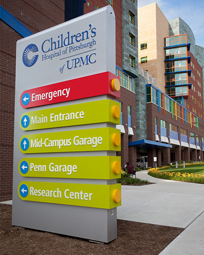 Children s hospital of pittsburgh wayfinding system flickr for Exterior research and design