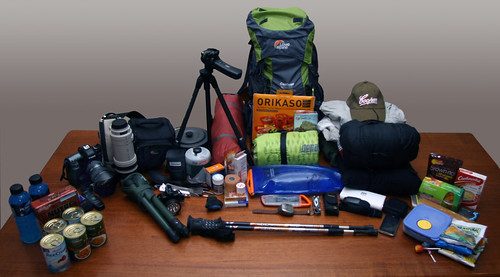 Camera and Hiking Gear