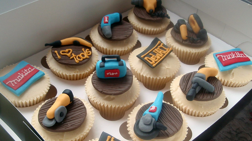 Power Tool Cupcakes The Clients Boyfriend Is Apparently