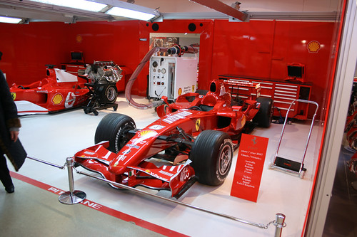 ferrari formula 1 garage ferrari f2004 and f2007