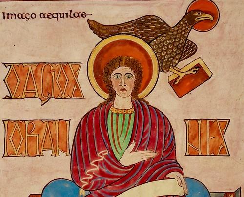 San Juan Evangelista-Lindisfarne Gospels_detalle