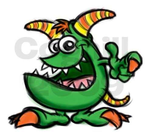 Cartoon Characters Monsters : Random cartoon monster character sketch rough color