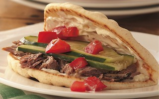 Slow Cooker Greek Pork Sandwiches | by Betty Crocker Recipes
