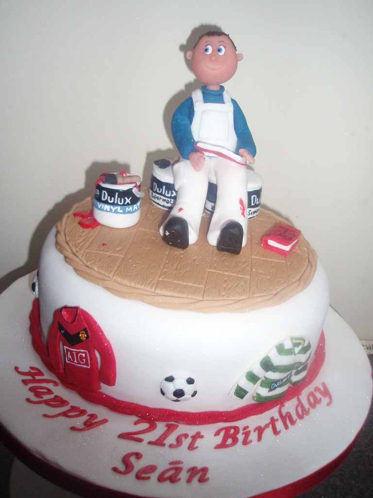 Birthday Cake With Painter Cake Topper This Wasa Cake