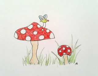 Toadstools and critter | by allisongryski