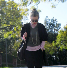 casual layers -pink black gray- chain boots - 7 | by ...love Maegan