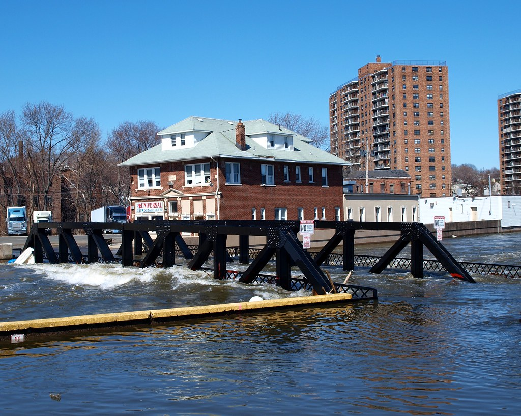 ... Flooded Alfano Island Bridge Over Passaic River, Paterson, New Jersey |  By Jag9889