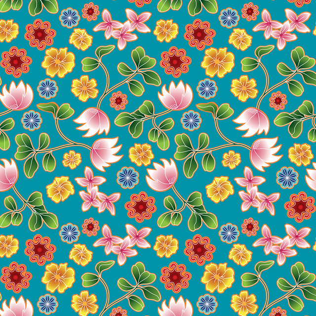 Teal Floral | Click on 'All Sizes' to view to full ...