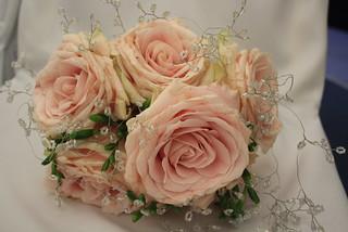 rose wedding flowers photos