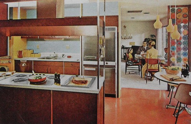 ... 1960s Kitchen Mod Dining Room Modern Vintage Interior Design Photo | By  Christian Montone