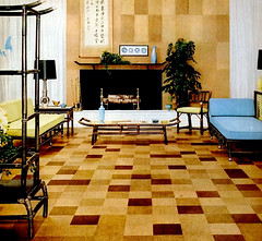 Living Room 1956 Cork Flooring Ad Kimberly Lindbergs