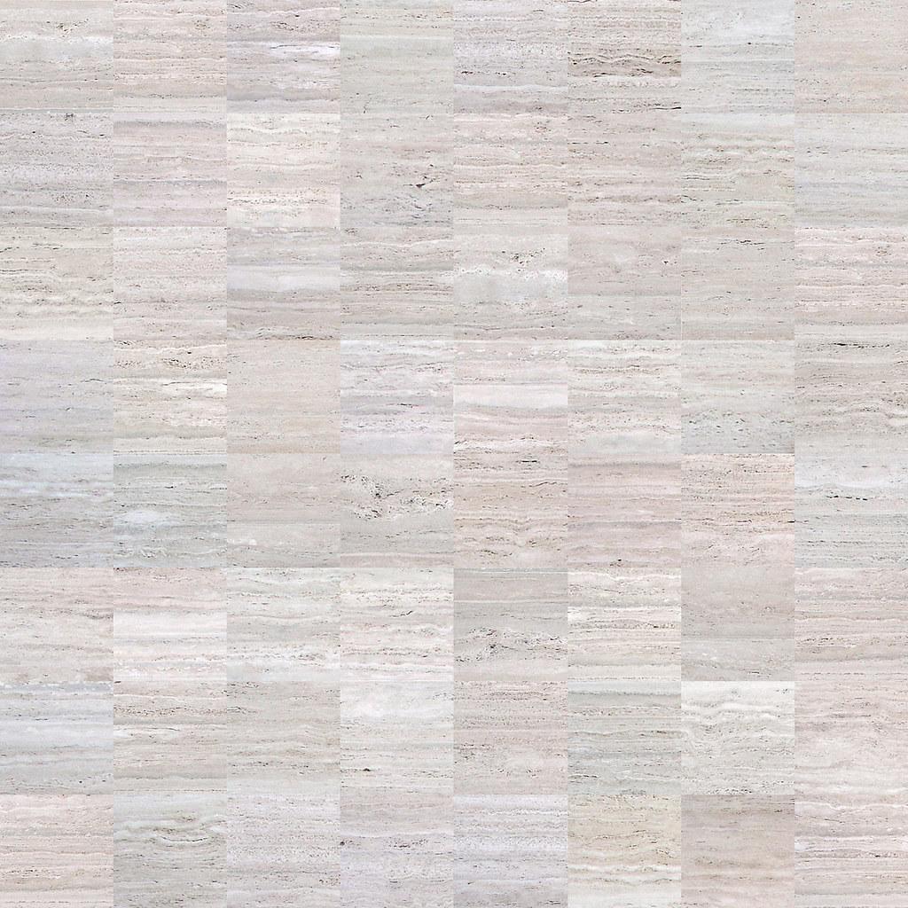 Silver Travertine Floor Kitchen