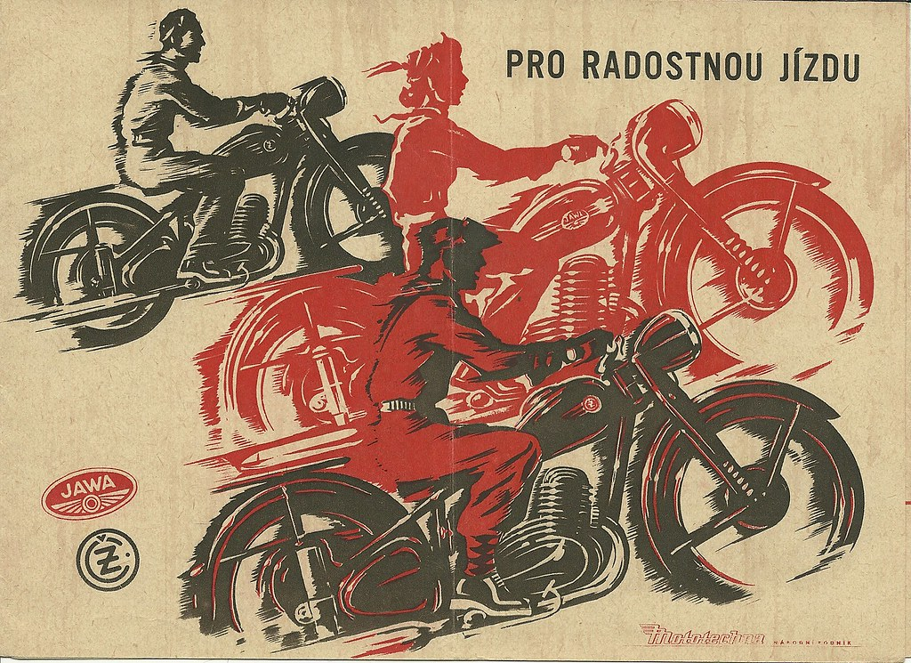 jawa and cz motorcycle brochure 1953 from my auto