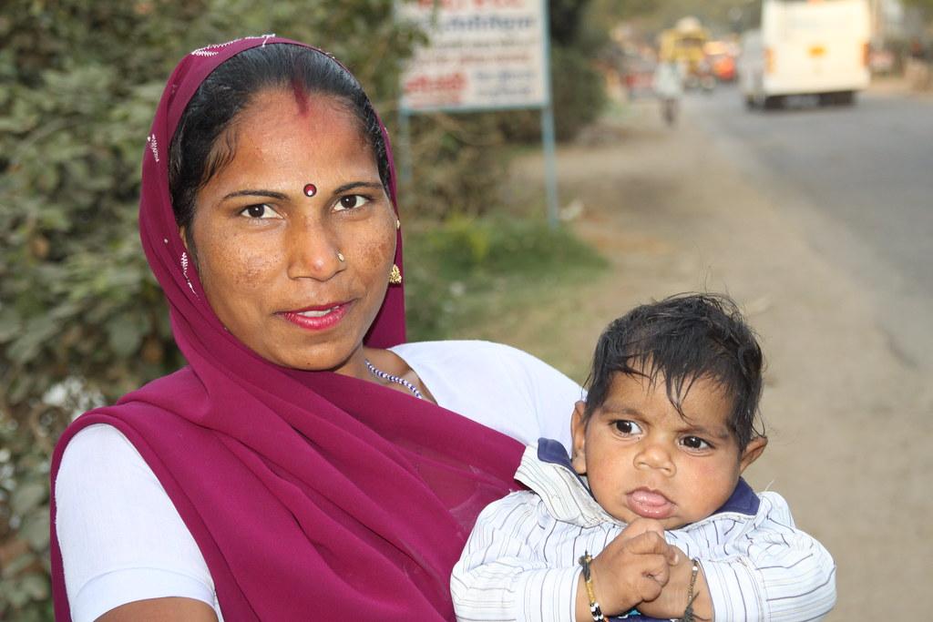 Indian Mother and Child, Kiraoli, Uttar Pradesh, India, 20 ...
