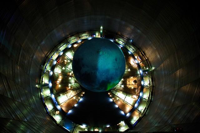 Mond im Gasometer (von Dach aus aufgenommen)