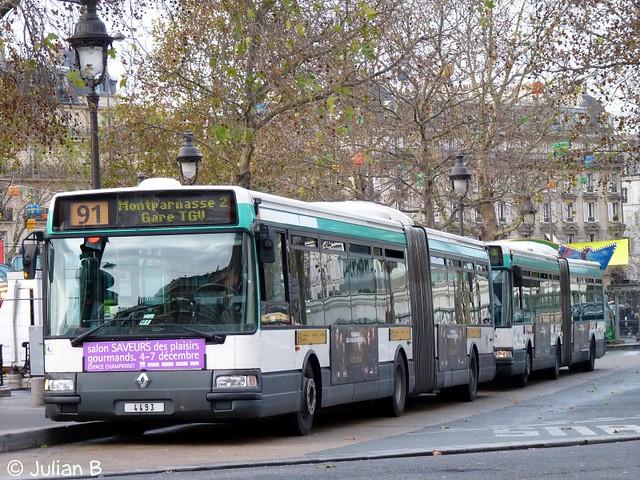 Renault Agora L RATP n°4493 | Renault Agora L de 1999 sur ...