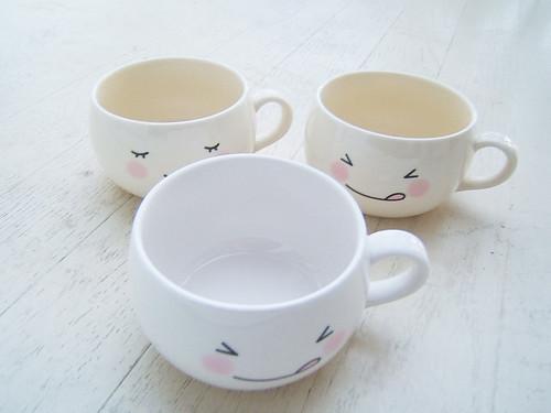 White Kawaii Cute Face Mug Cup Fuwa Icecream Drops Flickr