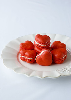 red velvet macarons - plated | by jayme michelle