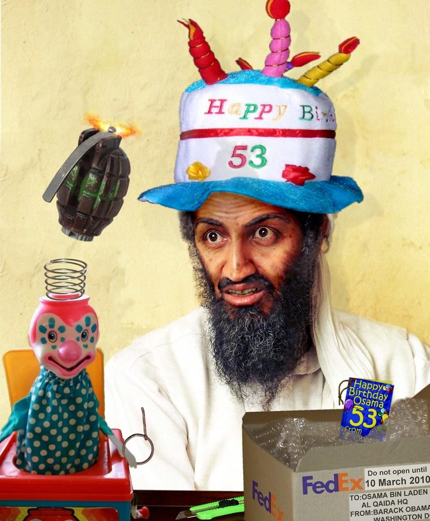 Happy Birthday Osama – Barack Obama Birthday Card