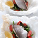 snapper with beans & cherry tomatoes