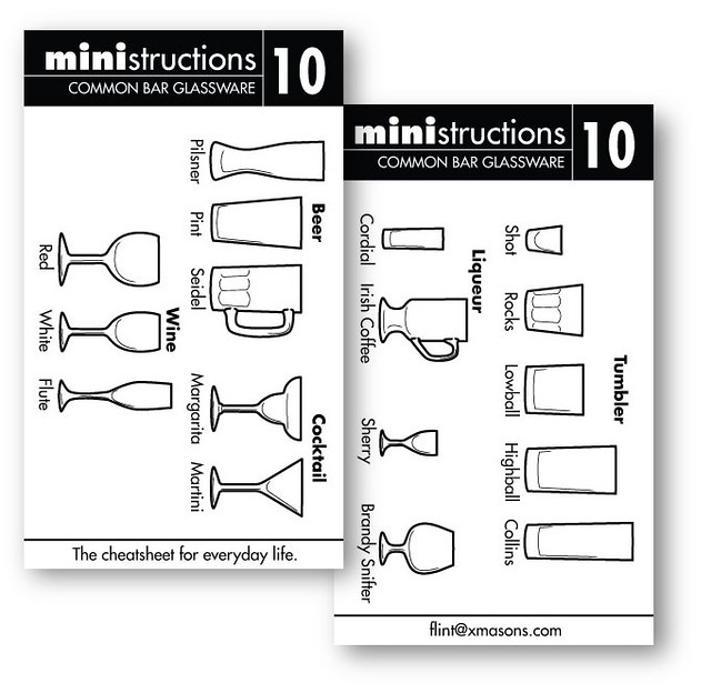 common bar glassware ministructions are a series of illust flickr. Black Bedroom Furniture Sets. Home Design Ideas