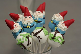 Travel Gnome Cake Pops and Palm Tree Cake Pops | by Sweet Lauren Cakes