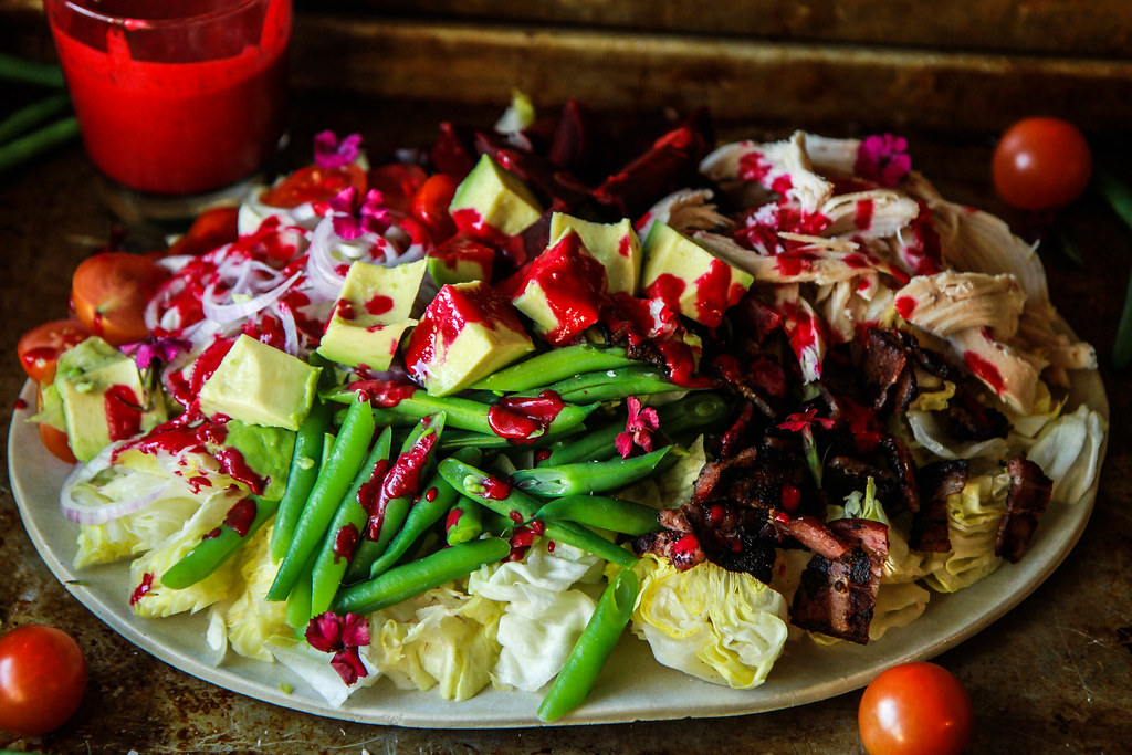 Winter Cobb Salad with Smoky Beet Dressing from HeatherChristo.com