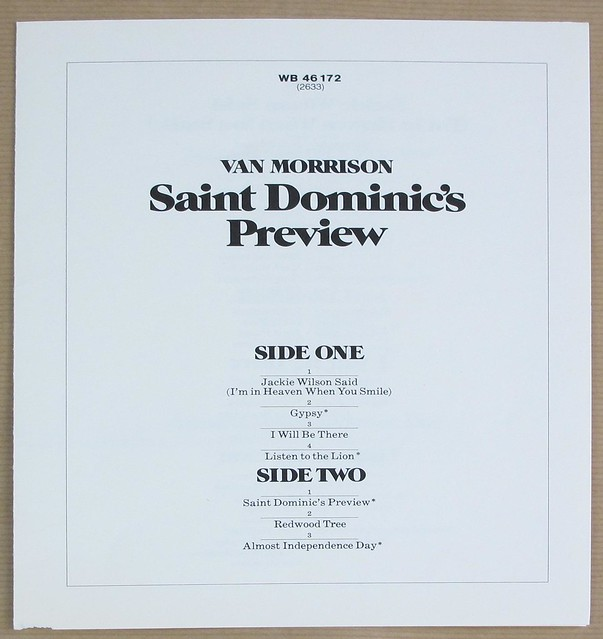 "VAN MORRISON SAINT DOMINIC'S PREVIEW + BOOKLET 12"" 170 grams LP VINYL"