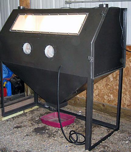 how to build a sandblasting room
