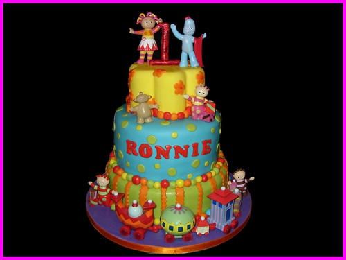 In the night garden this is for my nephews 1st birthday for In the night garden cakes designs