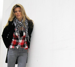 plaid-shirt-gray-jeans-chain-boots-2 | by ...love Maegan