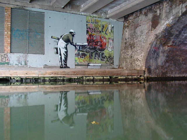 Banksy wallpaper graffiti