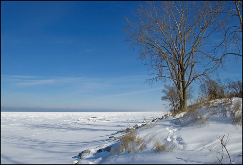 Sunny Winter Day Along Lake Michigan | by Tom Gill.