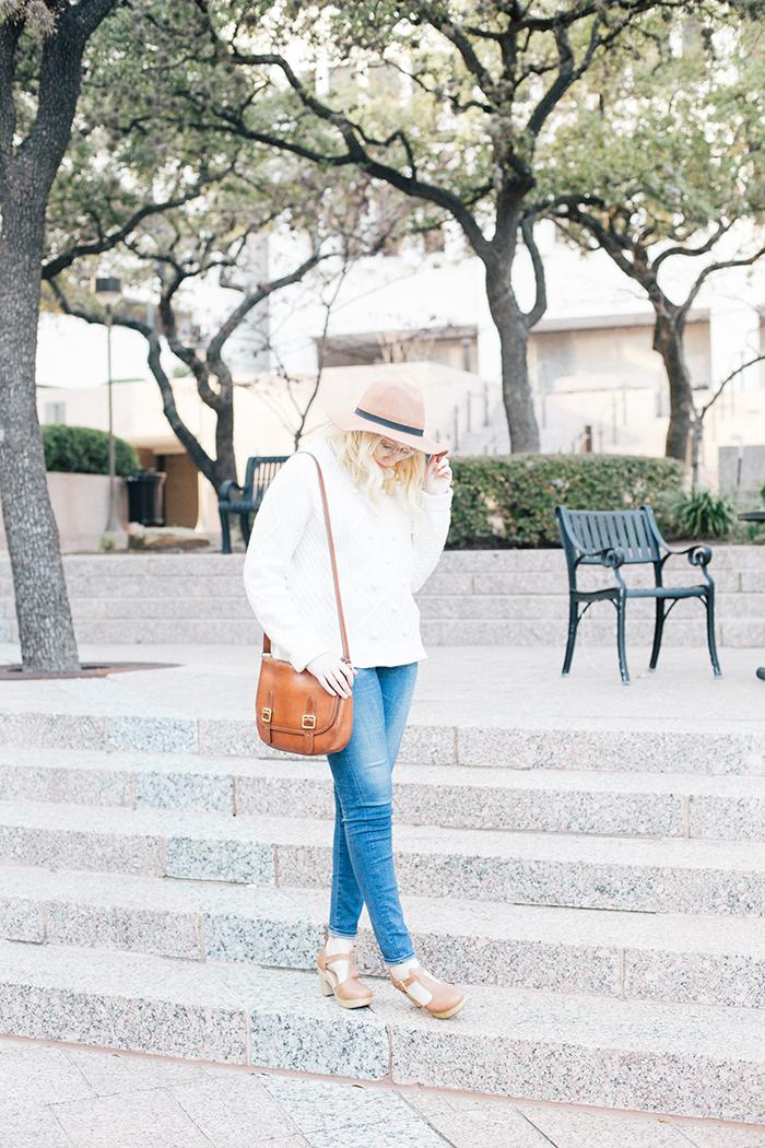 austin style blogger jcrew pom pom sweater clogs1