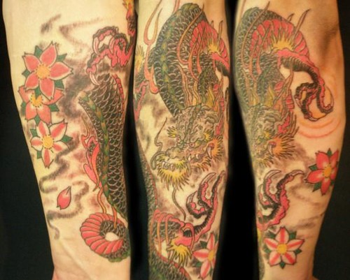 hapanese dragon half sleeve tattoo done heaven 39 n 39 hell flickr. Black Bedroom Furniture Sets. Home Design Ideas