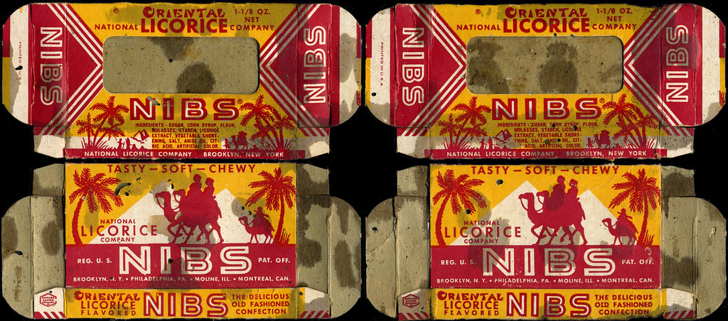 National Licorice Company Oriental Nibs Candy Boxes