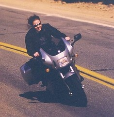 Mary Cummins test riding Buell | by Mary Cummins