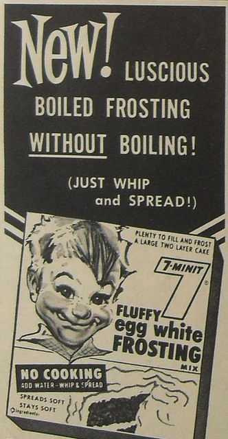 1950s 7 MINIT EGG FLUFFY WHITE FROSTING Vintage Advertisement